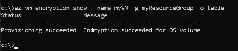 Finalización de cifrado de datos de Azure Disk Encryption